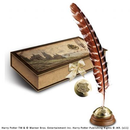 Hogwarts Writing Quill with Ink Pot and Ink